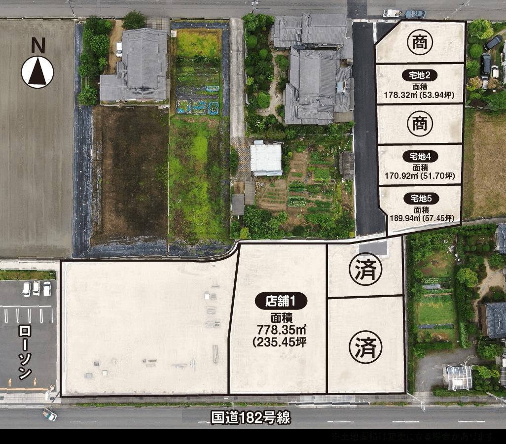 ニューハウス区画図(上加茂)